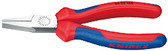 Knipex 2002160 Flat Nose Pliers Black Atramentized With Multi-Component Grips 6 1/4 In