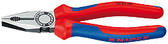 Knipex 0302180 Combination Pliers Black Atramentized With Multi-Component Grips 7 1/4 In