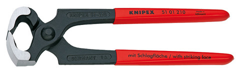 Knipex 5101210 Carpenters' Pincer Black Plastic Coated 8 1/4 In