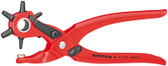Knipex 9070220 Revolving Punch Pliers Red Powder-Coated 8 3/4 In