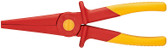 Knipex 986202 Flat Nose Grozing Pliers Black Atramentized Plastic Coated 8 3/4 In