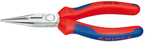 Knipex 2502140 Chain Nose Side Cutting Pliers (Radio Pliers) With Multi-Component Grips 5 1/2In