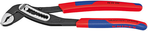 Knipex 8802180 Alligator® Water Pump Pliers With Multi-Component Grips 7 1/4 In