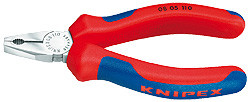 Knipex 0805110 Combination Pliers Black Atramentized With Multi-Component Grips 4 1/4