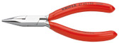 Knipex 3733125 Flat Nose Pliers For Precision Mechanics Black Atramentized Plastic Coated 5 In