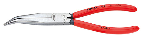 Knipex 3821200 Mechanics' Pliers Black Atramentized Plastic Coated 8 In