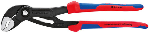 Knipex 8702180 Cobra® High-Tech Water Pump Pliers With Multi-Component Grips 7 1/4 In