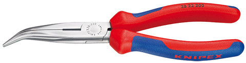 Knipex 2622200SBA Chain Nose Side Cutting Pliers (Stork Beak Pliers) With Multi-Component Grips 8""