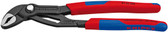 Knipex 8702250SBA Cobra Degrees High-Tech Water Pump Pliers With Multi-Component Grips 10 In