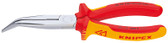 Knipex 2626200 Chain Nose Side Cutting Pliers (Stork Beak Pliers) 1000V Insulated, 8 In