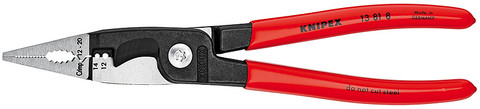 Knipex 13818SBA Installation Pliers Black Atramentized Plastic Coated