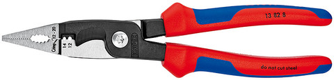 Knipex 13828 Installation Pliers Black Atramentized Plastic Coated 8 In