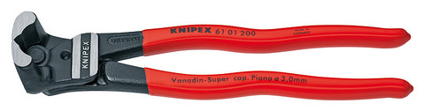 Knipex 6101200 Bolt End Cutting Nipper High Lever Transmission Black Plastic Coated 8 In