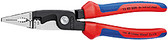 Knipex 1382200SB Installation Pliers Black Atramentized Plastic Coated 8 In