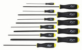 Bondhus 10737 Balldriver Screwdriver 11pc Set with ProGuard Finish, Long Length, 5/64-3/8 Inch