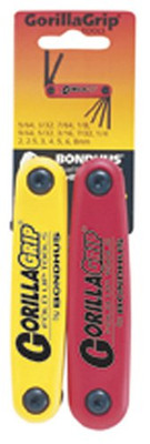 Bondhus 12522 GorillaGrip Hex Fold Up Double Pack #12587 (2-8mm) & 12589 (5/64-1/4-Inch)