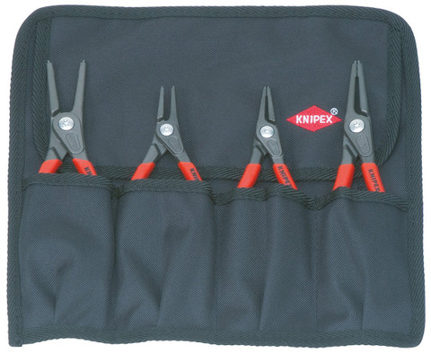 Knipex 001957 4pc Precision Circlip (Sanp-Ring) Pliers Set in Tool Roll