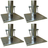 Pro-Series GSBP4 Scaffold Base Plate Set - 4 Piece