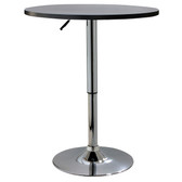 AmeriHome BTABLEW Classic Wood Top Bistro Table - Round