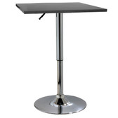 AmeriHome BTABLEWSQ Classic Wood Top Bistro Table - Square