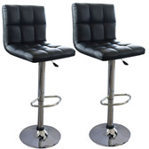AmeriHome BS44BSET Modern Checker Back Padded Bar Stool - 2 Piece