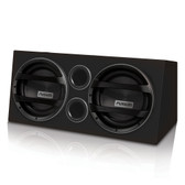"Fusion Marine ENAB2122 Dual 12"" Woofers Amplified Wedge Enclosure."