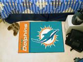 FANMAT 8232 NFL Miami Dolphins Uniform Inspired Starter Mat
