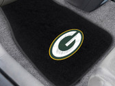 Fanmat 10744 NFL Green Bay Packers 2-Pc Embroidered Car Mat Set