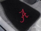 FANMAT 10351 University Of Alabama 2-Pc Embroidered Car Mat Set