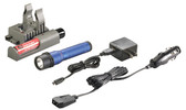 Streamlight 74357 Strion C4 LED Rechargeable Flashlight w/Piggyback, Blue