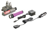 Streamlight 74362 Strion C4 LED Rechargeable Flashlight w/Piggyback, Purple