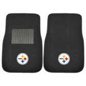 FANMAT 10302 NFL Pittsburgh Steelers 2-pc Embroidered Car Mat Set