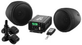 "Boss Audio MCBK520B Motorcycle/UTV Speaker And Amplifier System USB/SD/FM 3"" Waterproof Speakers Black"