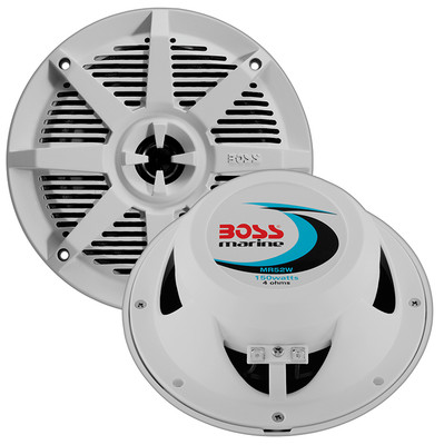 "Boss Audio MR52W 5.25"" 2-Way Coaxial Marine Speaker 150W White"