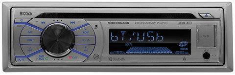 Boss Audio MR508UABS Marine Single Din Receiver CD/Mp3/USB/Sd Front Aux Remotesilver