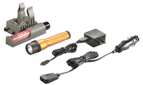 Streamlight 74785 Strion HL C4 LED Rechargable Flashlight 120/DC Piggyback Charger, Orange