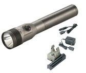 Streamlight 75688 Stinger LED Flashlight w/Battery & AC/DC Piggyback Charger, Grey