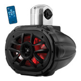 "Boss Audio MRWT69RGB 6X9"" 2-Way Marine Wake Tower Speaker With Rgb Lights 600W Black"