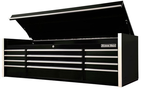 "Extreme Tools RX722512CHBK 72"" 12-Drawer Top Chest, Black"