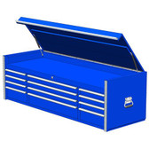 "Extreme Tools RX722512CHBL 72"" 12-Drawer Top Chest, Blue"