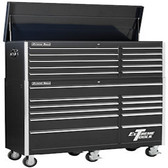 "Extreme Tools EX5621CRBK 56"" 10 Drawer Top Chest & 11 Drawer Roller Cabinet Combo, Black"