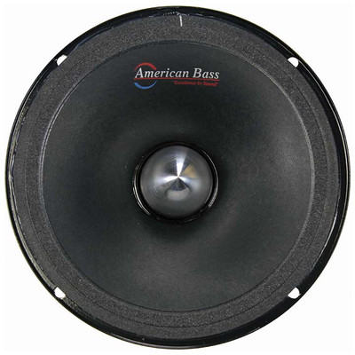 "American Bass 6.5 NEO 6.5"" Midrange (Each) With Grill & Neodymium Magnet 4 Ohm"