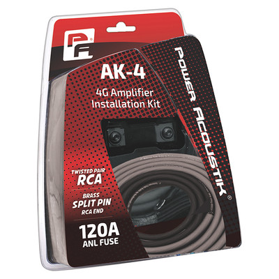 Power Acoustik AK4P 4 Gauge Amp Kit Mini ANL