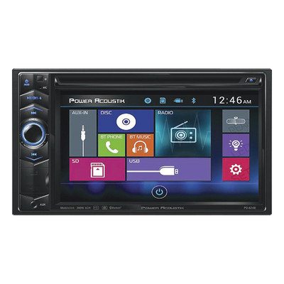 "Power Acoustik PD-624B 6.2"" D.Din AM/FM/Cd/DVD/USB/Bt"