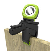 Blackfire BBM930 LED Rechargeable Spotlight Clamp Light Flashlight with AC/DC Adapters, 350 lm/Small, Black