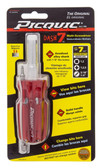 Picquic 08107 Dash 7 Screwdriver w/ P1,2,3, / R1,2 / S 3/16in., 1/4in.