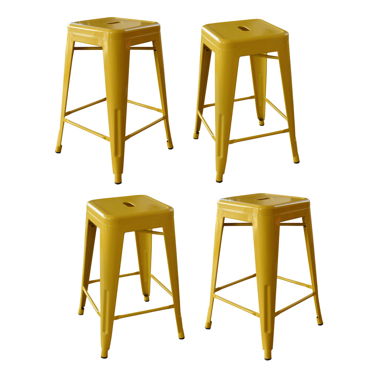 Amerihome Loft Gold 24 Inch Metal Bar Stool 4 Piece Jb Tool Sales