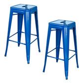 AmeriHome BS030BL2PK Loft Blue 30 in. Metal Bar Stool 2 Piece