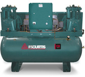 FS-Curtis CA5+ Duplex Ultra Pack Air Compressor 5 (2) HP 120 Gallon, Horizontal