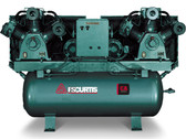 FS-Curtis CA7.5 Duplex Horizontal Air Compressor 7.5 (2) HP, 120 Gallon